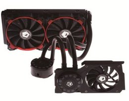 ID-COOLING 2 12cm PWM fans 2 row red LEDs CPU and graphic card water cooler Hunter Duet-R for multi-platform LGA2011 115X 775 & AMD All