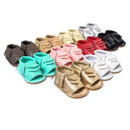 Wholesale 6pairs new Baby moccasins first walker shoes Tassels baby shoes soft soled shoes soled sandals Multy Color for baby best gift