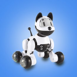 Wholesale Robot Dog Toy Electronic Dog Toys For Kids Voice Control Toy Electric Pet Programme Robot Dancing Light Walk Multi Function