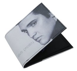 Wholesale 2016 Fashionable Great Look Elvis Presley Wallet Limited Unisex Wallet Short Wallet Card Holder Bag Have Stock In UK