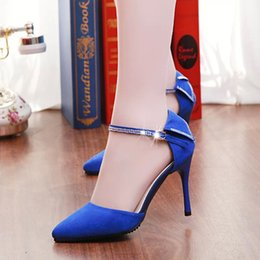 2016 spring and summer high heel sandals with thin women a sense of Baotou women's shoe buckle a hollow diamond