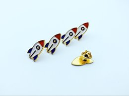 20pcs fashion aircraft rocket, brooch accessories, provide production.Used for jeans, hats and other decorative brooches