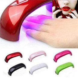 Rainbow Nail Art Lamp 8 colors9W LED Light Bridge Shaped Curing Mini Nail Dryer Nail Art Lamp Care Machine for UV Gel USB Cable