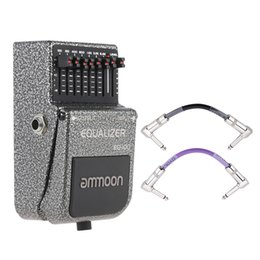 Wholesale ammoon EQ Equalizer Effect Pedal Guitar Effect Band EQ Wide Frequency Range with Joyo Colorful Pedal Connecting Cable