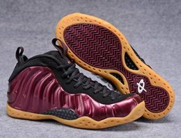 Wholesale New Foams One Night Maroon Men Basketball Shoes Penny Hardaway Dark Red Foam One Pro Galaxry Running Sneakers High Quality With Shoes Box
