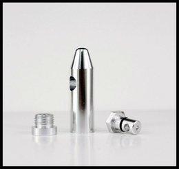 Wholesale Hot colors bullet aluminum metal snuff snorter smoking pipe shisha hookah grinder gift rolling machine paper glass bong vaporizer pill box