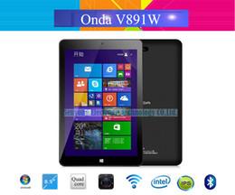 """Ips tableta al por mayor en venta-Al por mayor-Onda original V891w V891 de doble arranque dual OS Tablet PC 8.9 """"IPS Intel Z3735 Win8 androide 4.4 64GB Quad Dual Core de 5.0 megapíxeles 2 GB / cámara"""