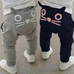 Wholesale Retail new spring and autumn kids clothing boys girls harem pants cotton owl trousers baby pants Sports pants