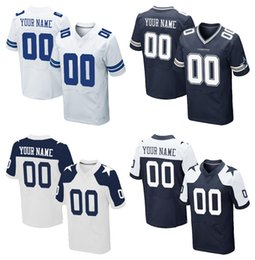 Wholesale HOT SALE Men s DLS Cowboys Custom Elite Football Jerseys High Quality Stitched Any Name Number You Decide Tour Colors Allowed
