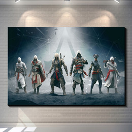 Wholesale Assassins creed Photo paper poster game poster home decoration posters Pub Bar Home Decor Art Retro wallpaper for kids rooms
