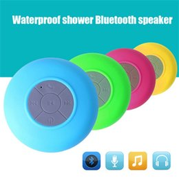Wholesale Portable Subwoofer Shower Waterproof Wireless Bluetooth Speaker Car Handsfree Receive Call Music Suction Mic For all type phones