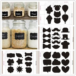 Wholesale Lovely color black fancy mason jar wedding chalkboard labels wine glass drink cup label diy reception decoration idea