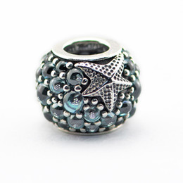 Wholesale Beads Fits for pandora Snake chain bracelets necklace sterling silver beads Oceanic Starfish Charm best gift NEW summer