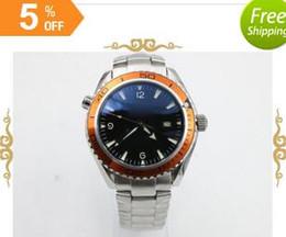 fashion brand watch men automatic mechanical Professional orange bezel waches Co-Axial planet ocean sea master watches men dive wristwatches