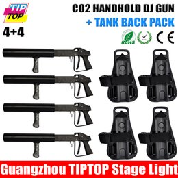 Wholesale TIPTOP Handheld DJ CO2 Gun with Co2 Gas Backpack CO2 Jet Machine Activated by Trigger Light weight and Portable