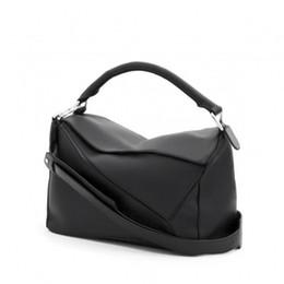 high quality~ w331 genuine leather puzzle zippy shoulder bag lo handbag brand inspired fashion women 29*19.5*14cm black orange blue violet