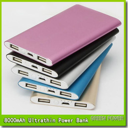 8000mah power bank for mobile phone 2 USB Port Ultra thin slim powerbank Tablet PC External battery