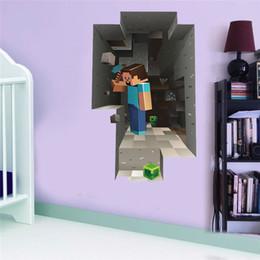 Wholesale 100pcs ZYMC001 popular classical sandbox game wall stickers diy home decor mc001 kids room d mural art fans childrens gift