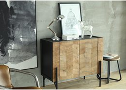 Wholesale The American country ert edge ark is brown The sideboards is soild wood drop shipping