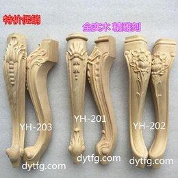 Wholesale Dongyang wood carving antique sofa leg applique wood tea table cabinet leg foot