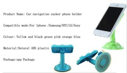 Wholesale New Rubber Sucker phone holder degree Rotating adjust Suckers Suction Cups mount desktop automobile bracket for ipad iphone Tablet PC VR