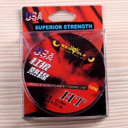 Wholesale New store Lowest price Brand red wolf fishing line m Nylon Fishing Line Export USA Size