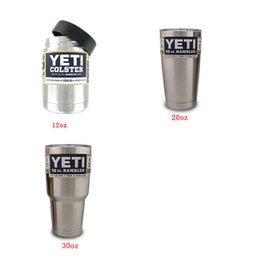 Wholesale Yeti oz oz oz oz Rambler Cooler Cups UPS Express Blue Lid Rambler Cups for Yeti Coolers Cup Sports