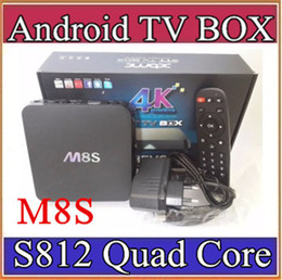 Wholesale SH M8S K Smart TV Box Amlogic S812 Quad Core GB GB XBMC Media Streamer Player IPTV Mini PC D Movie Games Sports Video AV PC B TH