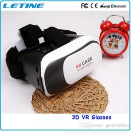 Wholesale 2016 Google Cardboard VR Box Virtual Reality Headset D Glasses Oculus Rift DVD Movies Wireless Gamepad Phone Glasses GD03 good