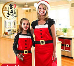 Wholesale Christmas Apron Christmas Kitchen Cook Apron Free Size Restaurant Supermacket Christmas Uniform Xmas Decor Supplies tools new