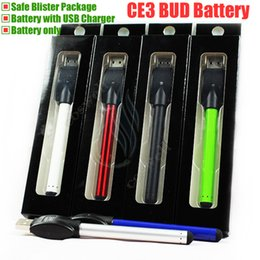 New CE3 Bud Touch O pen Battery with USB Charger Blister 280mah e cigarette vape Oil thick Waxy Smoking wax 510 Tank vaporizer vapor DHL