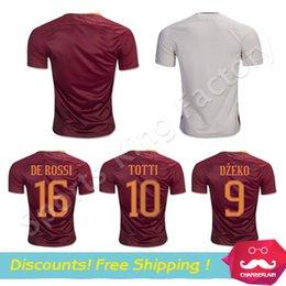 Wholesale DZEKO soccer Jersey TOTTI HOME away EL SHAARAWY DZEKO DE ROSSI thai quality romaes football shirt soccer jersey