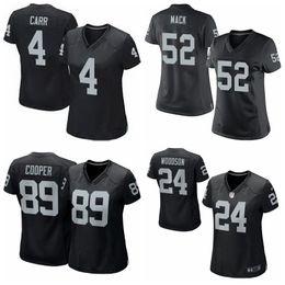 Wholesale Raiders Womens Jerseys Derek Carr Khalil Mack Amari Cooper Charles Woodson white black football jerseys cheap t shirts