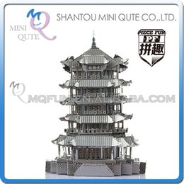 Wholesale DHL Piece Fun D World architecture chinese ancient building Yellow Crane Tower Metal Puzzle adult models educational toy