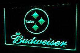 Wholesale LS425 g Pittsburgh Steelers Budweiser NR Neon Light Sign jpg