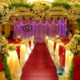 10 m roll Shiny Red Pearlescent Wedding Aisle Runner Carpet Wedding Centerpieces Favors Supplies Free Shipping
