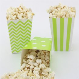 Free Shipping green Popcorn Box 120pcs(10packs MIX) Event & Party Supplies eco craft paper Candy Box