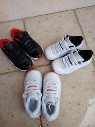Wholesale Kids Retro low basketball shoes Columbia Grade School Kids BG GS Bred Black Red