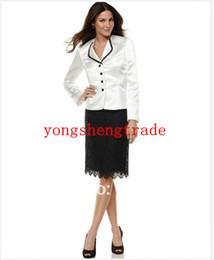 Brand Women Suit Fashionable Suit Three Quarter Sleeve Jacket & Lace Skirt Tailor Suit Women Apparel 692