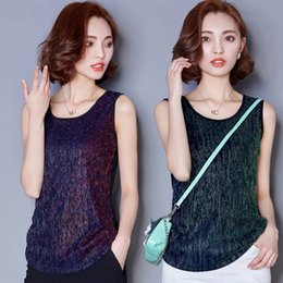 Wholesale Female summer outside wear cotton render unlined upper garment loose white T shirt small condole sleeveless top