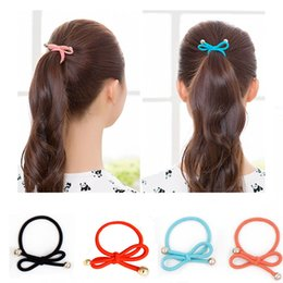 Wholesale 5PCS Super Stretch Rubber Band Lovely Girl Fashion Korean Bow Hair Ring Seamless