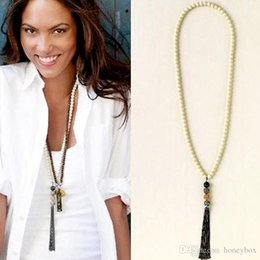 Wholesale Fashion long necklaces pendants for women beads rhinestone business jewellery HQ
