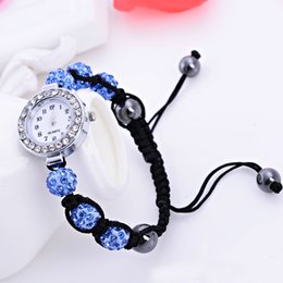 The new European and American fashion knitting Shambhala bracelet watch Valentine's Day gift