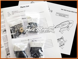 Wholesale uto Replacement Parts Nuts Bolts Addmotor Pieces Set Black Complete Fairing Bolt Kit Body Screws Fasteners For CBR1100XX Blackbird