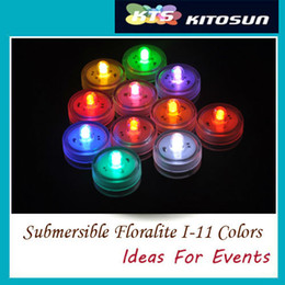 10 pieces lot 11 Colors Available Waterproof Single Mini LED Tea Light with 2pcs Replaceable CR2032 Battery Operted