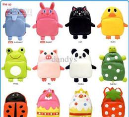 Wholesale b2w2 cute children s school bags boys and girls shoulder bag kids zoo pack backpack dandys