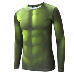 Wholesale Avengers Hulk Compression Shirt Men Long sleeve Fitness Crossfit D T Shirt Male Gym Clothing Training Bodybuilding Tight Tops