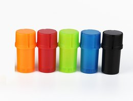 Wholesale Universal Container Water Tight Air Tight Medical Grade Plastic Smell Proof Portable Multiple Colors Available Herb Grinder