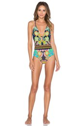 2016 Newest Summer Bikinis swimwear plus size women High Waist Sexy Women Bikini Swimwear Padded Boho one piece Swimsuit S M L XL