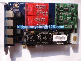 Wholesale Asterisk Card with Echo Cancellation Hardware VPMADT032 Module AEX410 FXO FXS Asterisk card PCI E Connector card